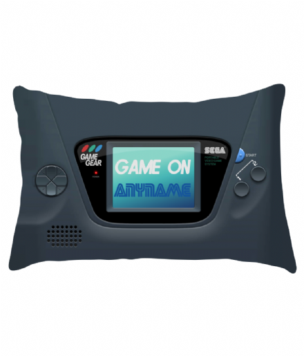 Personalised Game on Retro Gamer Sega Game Gear Design Lumbar Cushion
